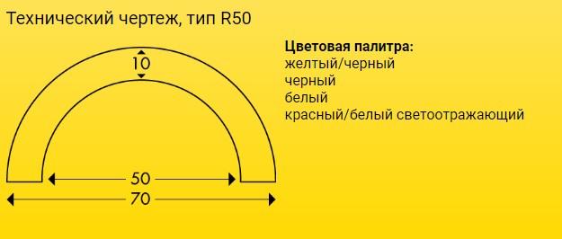 Технический чертеж, тип R50